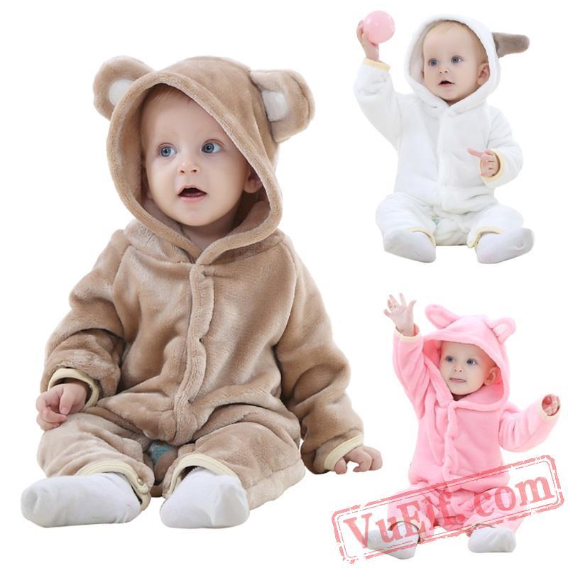 7fa05b88c169 Animal Pink Baby Onesie Pajamas - Baby Kigurumi Onesies