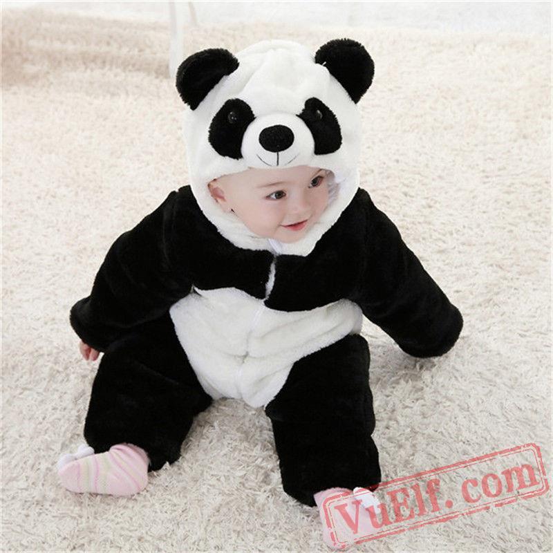animal panda baby onesie pajamas baby kigurumi onesies. Black Bedroom Furniture Sets. Home Design Ideas