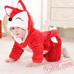 Animal Red Fox Baby Onesie Pajamas - Baby Kigurumi Onesies