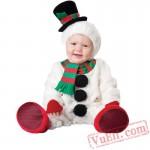 Cute Snowman Baby Onesie Pajamas - Baby Kigurumi Onesies