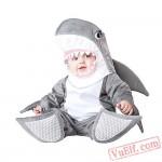Grey Shark Baby Onesie Pajamas - Baby Kigurumi Onesies