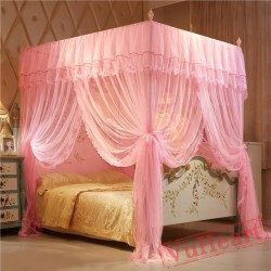 Elegant Square Purple Mosquito Net for Double Bed