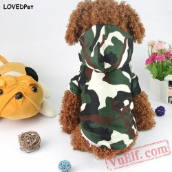 Camouflage Winter Pet Dog Coat / Jacket