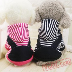Red & Black Stripe Pet Dog Coat / Jacket / Sweatshirt / Costume