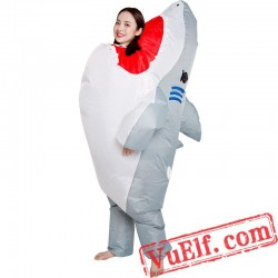 Big Shark Inflatable Blow Up Costume