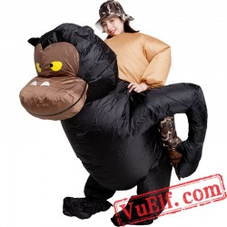 Chimpanzee Inflatable Blow Up Costume