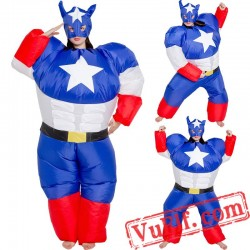 Captain America Soldier Inflatable Blow Up Costume
