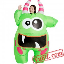Big Mouth Monster Adult Inflatable Blow Up Costume