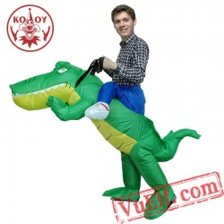 Adult Crocodile Ride On Inflatable Blow Up Costume