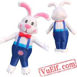 Adult Easter Bunny Rabbit Inflatable Blow Up Costume