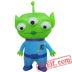 Adult Three Eyed Alien Inflatable Blow Up Costume