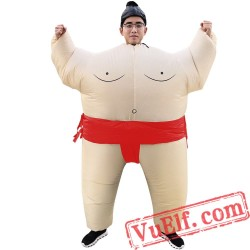 Adult Sumo Inflatable Blow Up Costume