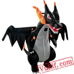 Adult Fly Spitfire Dinosaur Pterosaur Inflatable Costume Blow Up