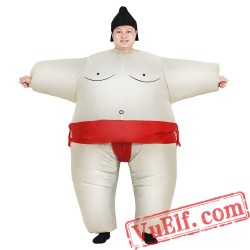 Adults Sumo Suit Wrestler Inflatable Blow Up Costume