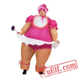 Adult Baby Doll Inflatable Blow Up Costume