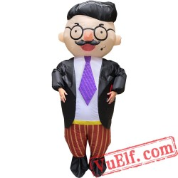 Adult Office Handsome Boss Inflatable Blow Up Costume