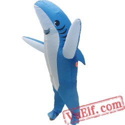 Adult Shark Inflatable Blow Up Costume