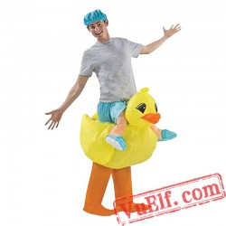 Adult Duck Ride On Inflatable Blow Up Costume