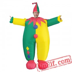 Adult Clown Inflatable Blow Up Costume