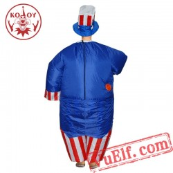 Adult Uncle Sam Inflatable Blow Up Costume