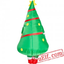 Adult Christmas Tree Inflatable Blow Up Costume