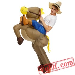 Adult Donkey Horse Ride On Inflatable Blow Up Costume