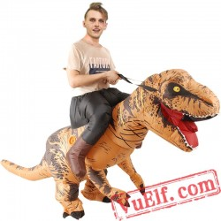 Adult Dinosaur T Rex Ride On Inflatable Blow Up Costume