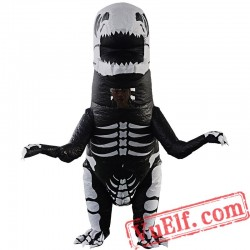 Adult T Rex Dinosaur Skull Inflatable Blow Up Costume
