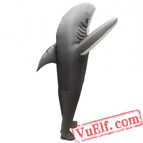 Adult Gray Shark Inflatable Blow Up Costume