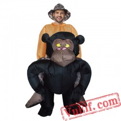 Adult King Kong Chimpanzee Inflatable Blow Up Costume
