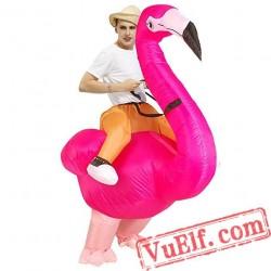 Adult Flamingo Bird Inflatable Blow Up Costume