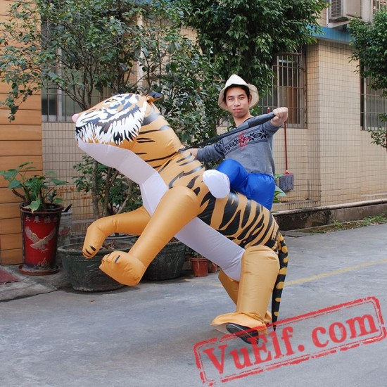 Adult Tiger Ride On Inflatable Blow Up Costume