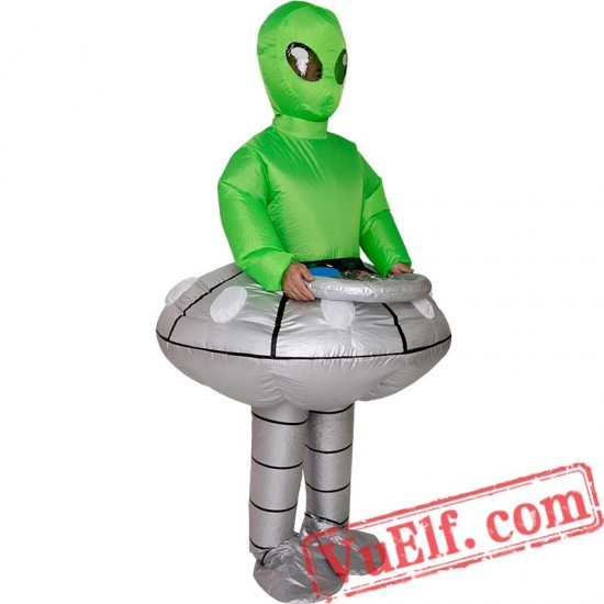 Adult Alien Et Inflatable Blow Up Costume