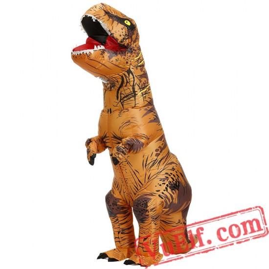 Adult Kids Dinosaur T Rex Inflatable Blow Up Costume