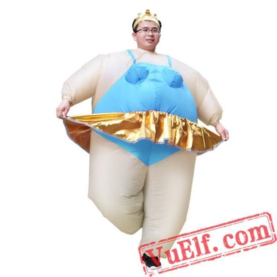Adult Ballerina Dancer Inflatable Blow Up Costume