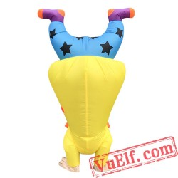 Adult Funny Handstand Clown Inflatable Blow Up Costume