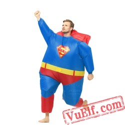 Adult Superman Inflatable Blow Up Costume