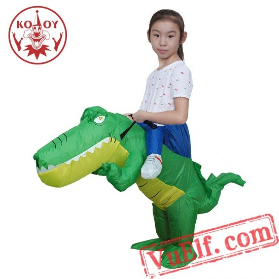 Kids Crocodile Ride On Inflatable Blow Up Costume