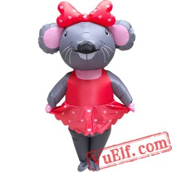 Adult Valentine'S Day Mouse Inflatable Blow Up Costume