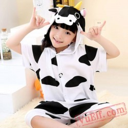 Animal Cow Onesie Pajamas - Summer Kids Kigurumi Onesies