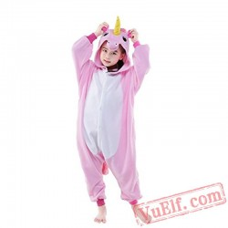 Kids Unicorn Kigurumi Onesie Pajamas Animal Costume