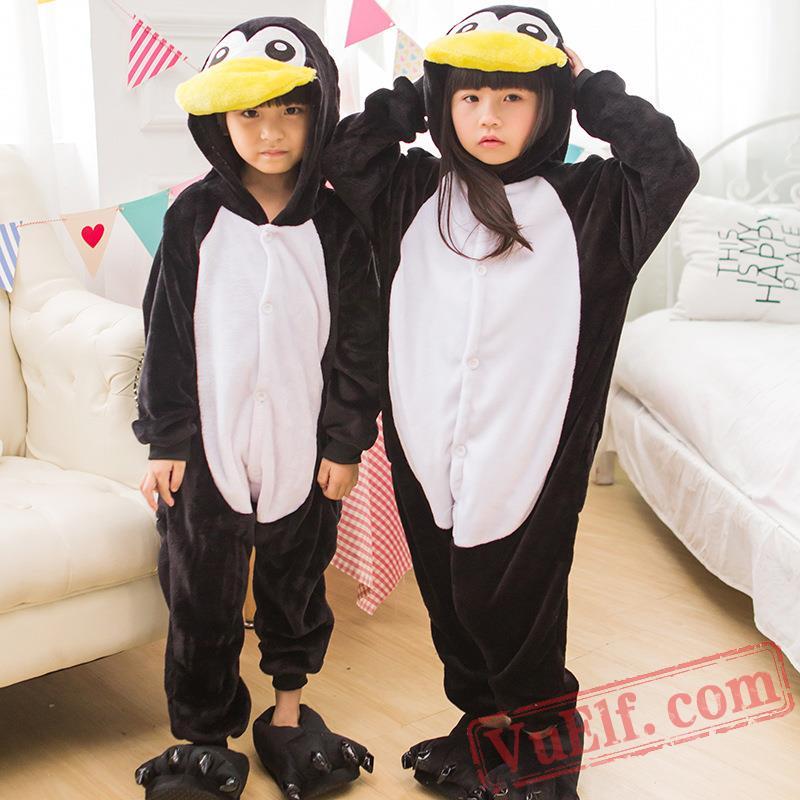 sc 1 st  Cheap Human Hair Wigs for Women u0026 MenCosplay Wigs for Sale & Penguin Kids Kigurumi Onesies Kid Winter Animal Costumes