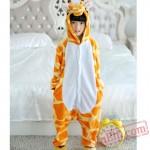 Giraffe Kigurumi Onesie Pajamas Kids Animal Costumes
