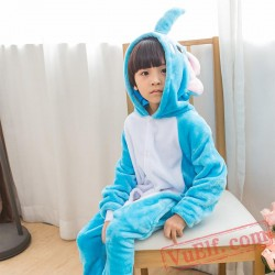 Blue Elephant Kigurumi Onesie Pajamas Kids Animal Costumes