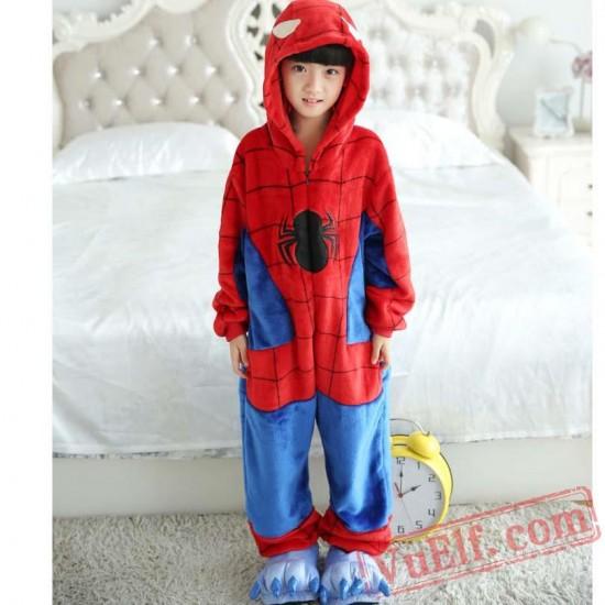Spiderman Kids Kigurumi Onesie Pajamas
