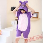 Purple Cat Kigurumi Onesies Kids Animal Onesie Costumes