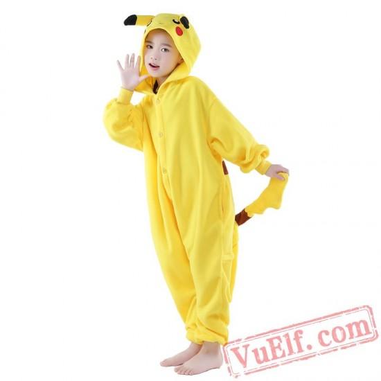 Pikachu Onesie Costumes / Pajamas for Kids - Kigurumi Onesies