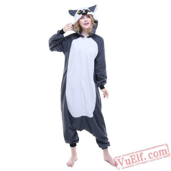 Ring Lemur Onesie Costumes / Pajamas for Adult - Kigurumi Onesies