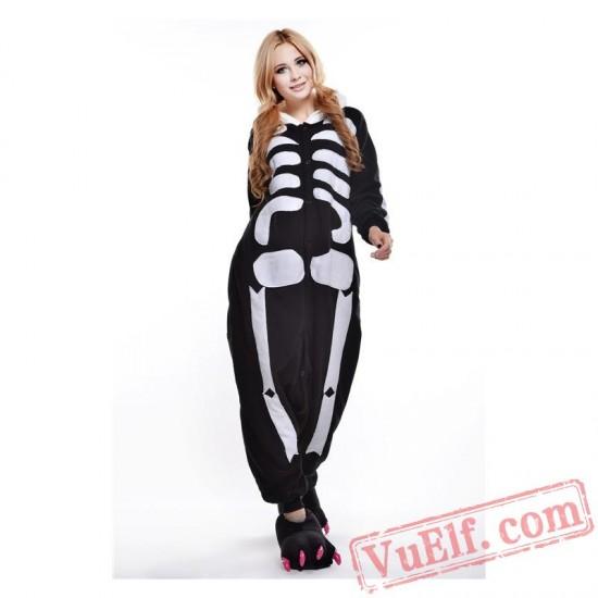 Skull Skeleton Onesie Costumes / Pajamas for Adult - Kigurumi Onesies