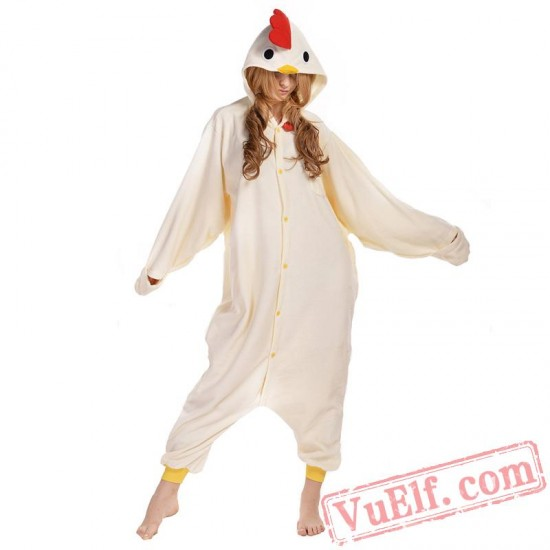 White Chicken Onesie Costumes / Pajamas for Adult - Kigurumi Onesies
